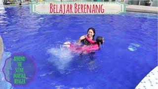"""BELAJAR BERENANG DI KOLAM BESAR SAMPAI KEDINGINAN ♥ Behind The Scene """"Marsha Bengek"""" Kolam Renang"""