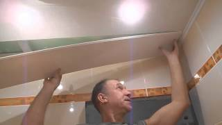 Монтируем подвесной потолок ч.5(В этом ролике показана заключительная часть монтажа,замок. Ролик относится к видео подборке *Облицовка..., 2013-12-08T17:45:02.000Z)