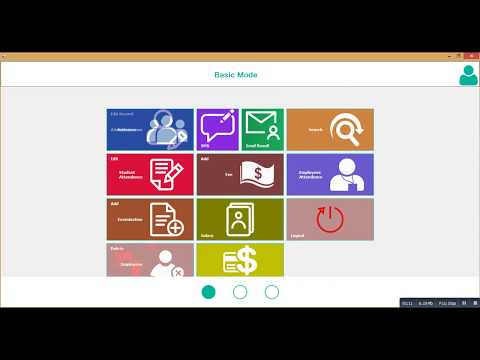 School Management Software Demo (Desktop Application)