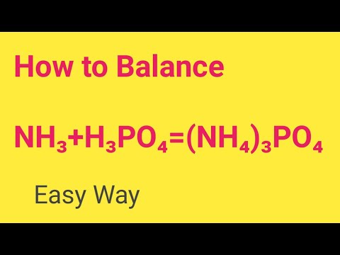 NH3+H3PO4=(NH4)3PO4 Balanced Equation||Ammonia+Phosphoric Acid=Ammonium Phosphate Balanced Equation