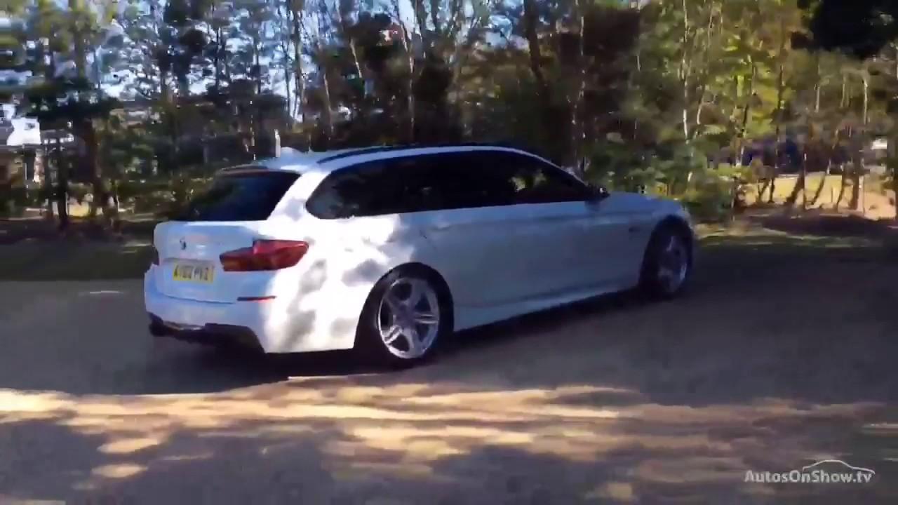 BMW 5 SERIES 520D M SPORT TOURING WHITE 2013