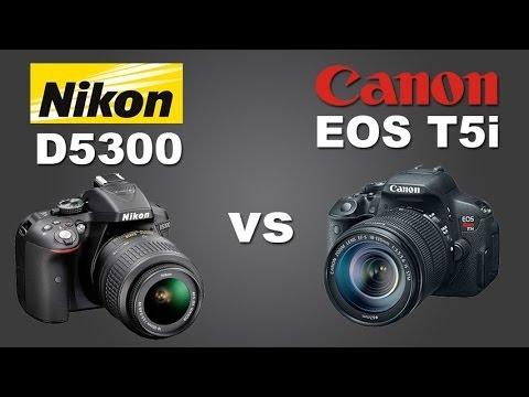 Canon T5i (700d) vs Nikon D5300 - Qual devo comprar? (Portugues BR)