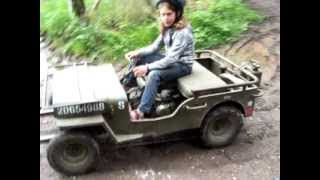 Homemade Mini Jeep Willys For Children