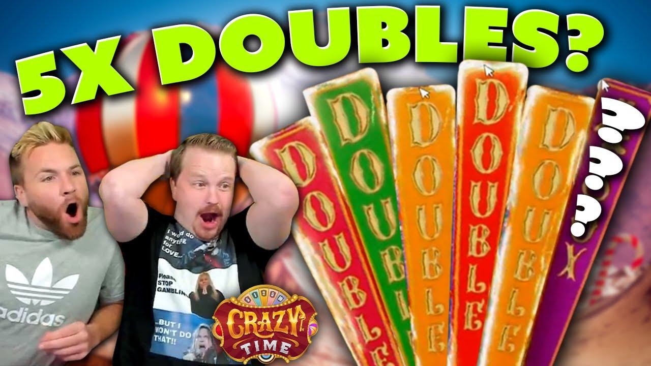 5x Doubles INSANE Crazy Time Bonus!!