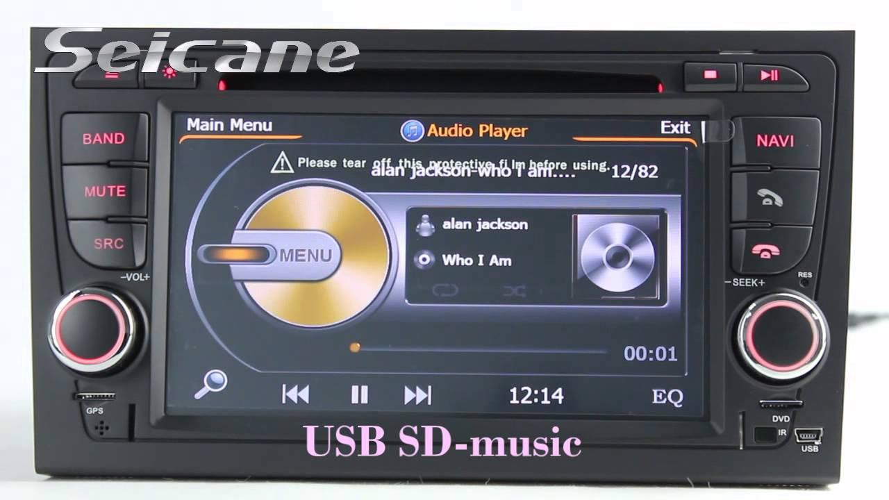 oem 2002 2007 2008 audi a4 s4 rs4 b6 aftermarket radio. Black Bedroom Furniture Sets. Home Design Ideas