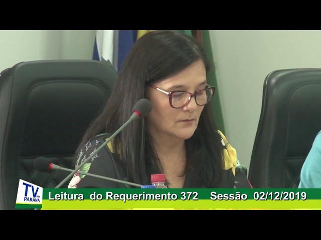 Vereadora Isabel Baran   rede  Leitura Requerimento 372  Sessão 02 12 2019