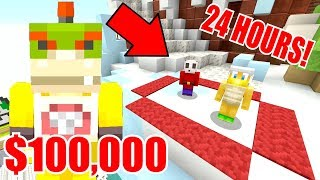 Minecraft | Nintendo Fun House | Last One To Leave The Circle Wins $100,000 *24 HOURS!* [402]