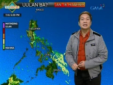 Weather update as of 6:10 a.m. (January 18, 2018)