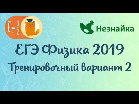 Тренировочный вариант №2 (neznaika.info) ЕГЭ по физике 2019