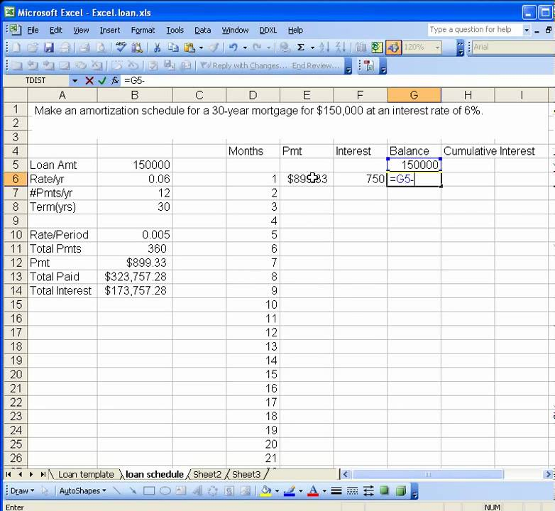 Loan Amortization Schedule  Youtube