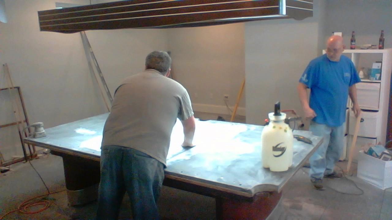 Peteu0027s Mid Century Brunswick Anniversary Pool Table Setup