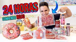 24 horas comiendo rojo - All day eating red food colors| RETO Mayden
