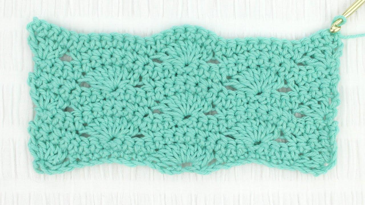 Wavy Shell Stitch Crochet Tutorial Youtube