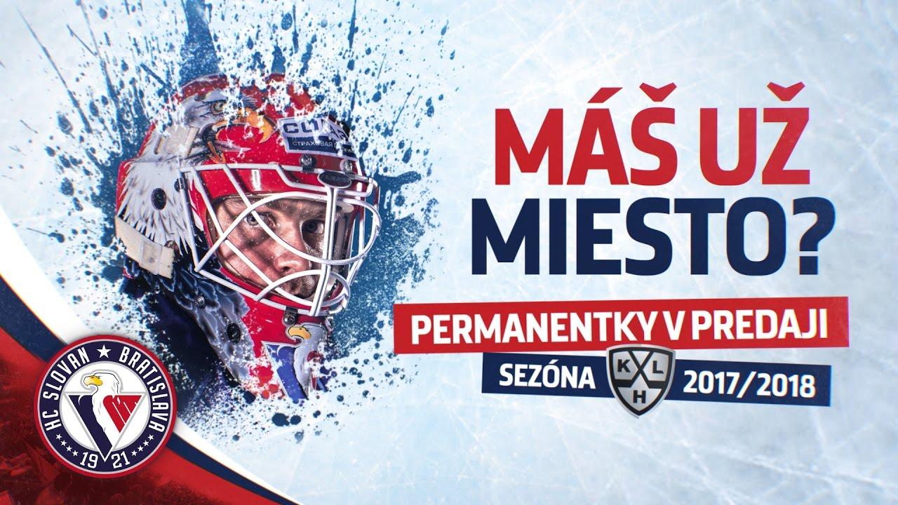 Permanentky na sezónu 2017/2018 sú v predaji. Vstupenky na KHL za zvýhodnenú cenu v sieti Ticketportal.  https://www.ticketportal.sk/Event/KHL_HC_SLOVAN_permanentka_20172018
