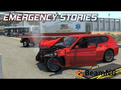 """Emergency Stories [8] (Short Stories) - BeamNG Drive - """"Bus Broadside"""""""