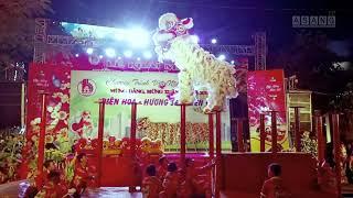 Hồi hộp xem lân nhảy mai hoa thung AN HOÀ ĐƯỜNG Lion dance