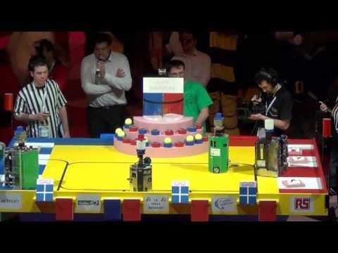 2013 - Finale n°3/3 - Université d'Angers 112 vs 108 RCVA - Coupe de France de robotique 2013