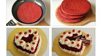 রেড ভেলভেট কেক রেসিপি/কেক রেসিপি/Red Velvet cake /Valentine