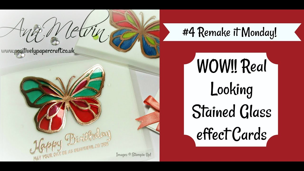 4 remake it monday gorgeous stained glass effect card youtube 4 remake it monday gorgeous stained glass effect card m4hsunfo