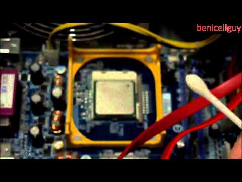 Cleaning Up CPU Processor And Heat Sink