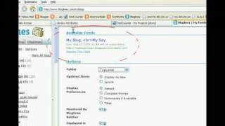 Add RSS feeds to Bloglines