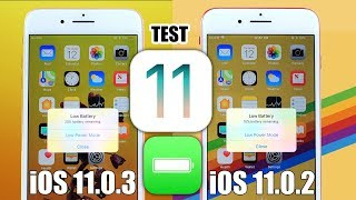 iOS 11.0.3 vs iOS 11.0.2 Battery TEST | Finally things are looking better
