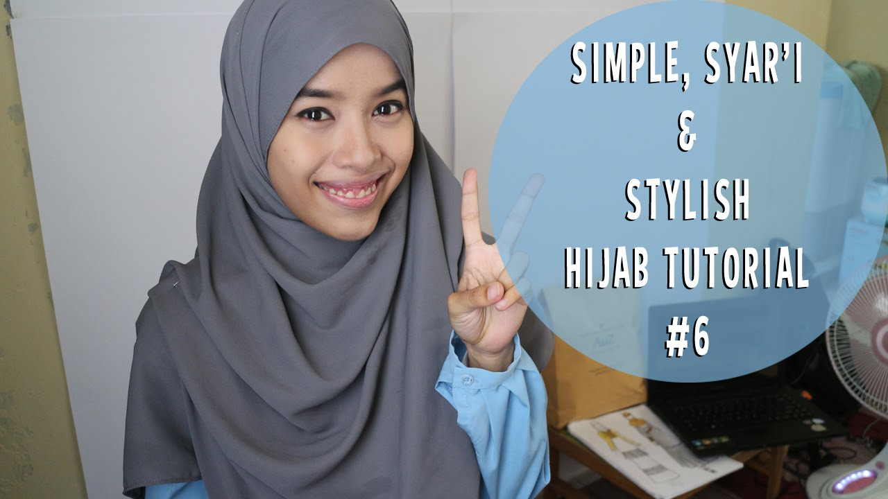 Simple Syari And Stylish Hijab Tutorial 6 Triadilah YouTube