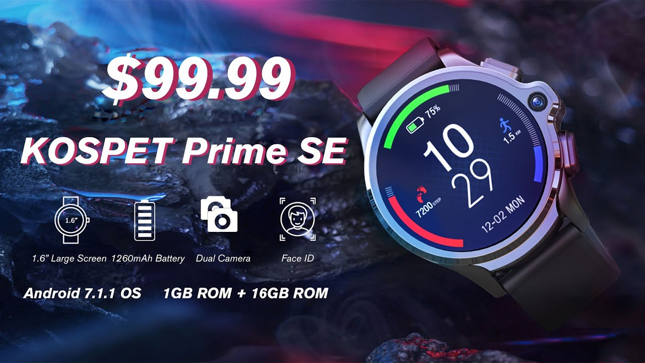 Upcoming KILLER Smartwatch? - Kospet Prime SE 4G Smartwatch Phone with 1260mAh|Dual Cameras|Face ID