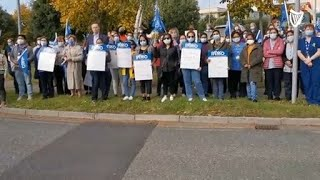 'We do not have the tools for safe care' – Nurses protest at Connolly Hospital