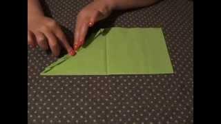 Как складывать бумажные салфетки