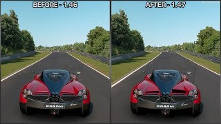 Gran Turismo Sport - Pagani Huayra Aerodynamic Flaps - Before and After Patch 1.47