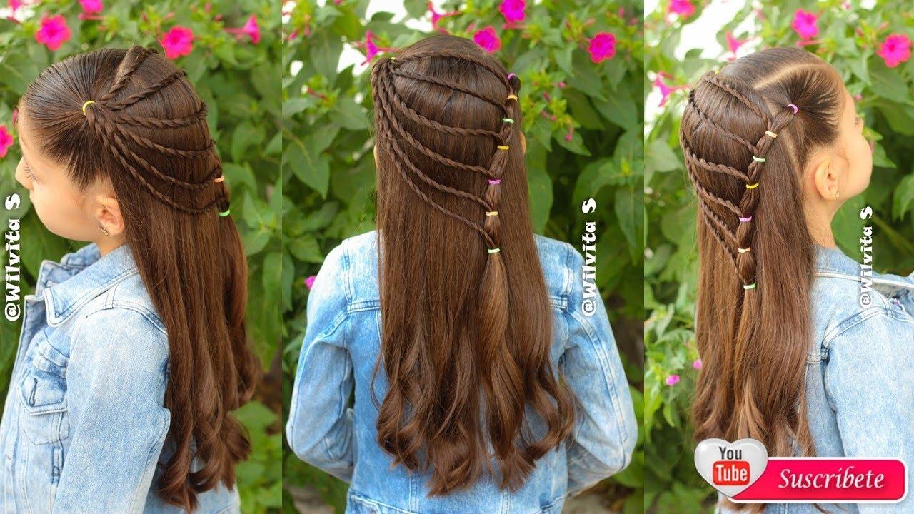 Peinado Con Ligas Para Niñas Ideal Para La Escuela Peinados Fáciles Wilvita Youtube