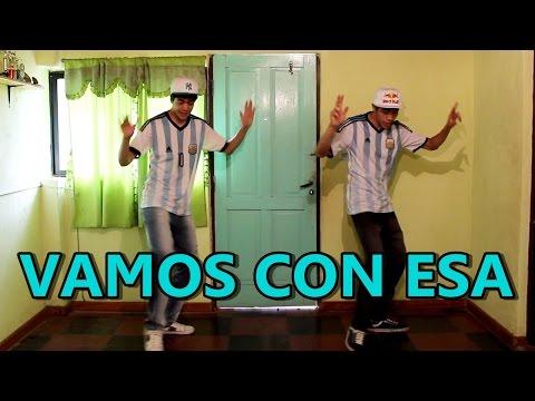 Jorge y Nacho bailando VAMOS CON ESA
