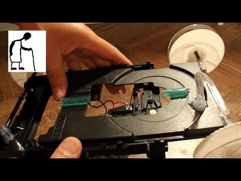 Let's make an Inchworm CrawlerBot from an old DVD player