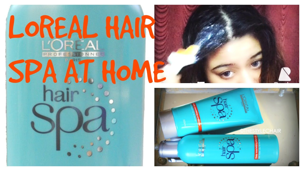 Dimple d 39 souza loreal hair spa at home for male n female for How to make a beauty salon at home