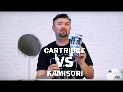 Kamisori vs Cartridge razor in a Wet Shaving Showdown
