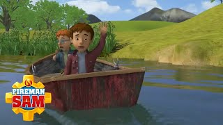 Norman coincé sur un bateau ! | Pompier Sam Officiel | Dessin animé pour enfants