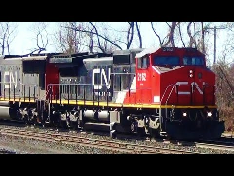 Canadian National Train Meets CSX Train