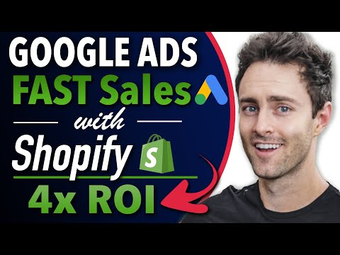 Google Ads Shopify Dropshipping Tutorial | How to Get Sales at 4x ROI (SUPER Easy | Step-by-Step) thumbnail