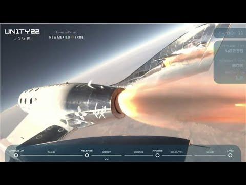 Virgin Galactic founder Richard Branson successfully rockets to ...
