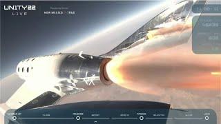 Watch Virgin Galactic send founder Richard Branson to edge of space