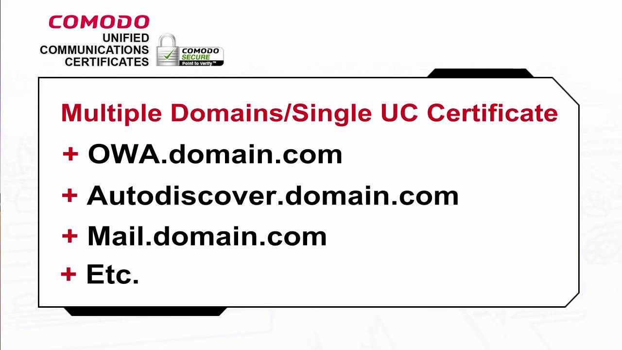 Unified Communications Or Uc Certificates Youtube
