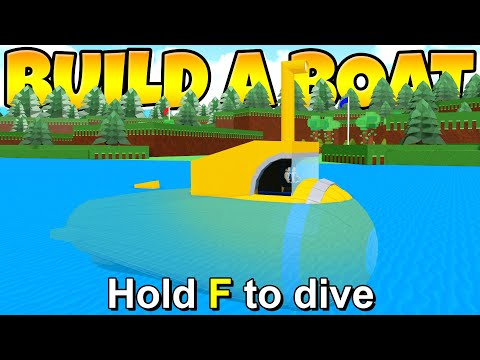 WORKING MICRO BLOCK SUBMARINE In Build a Boat!