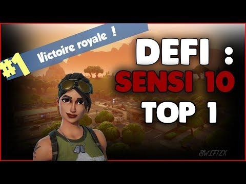 #3 DEFI : TOP 1 EN SENSIBILITE 10 EN DUO VS SQUAD ! EPIQUE REACTION