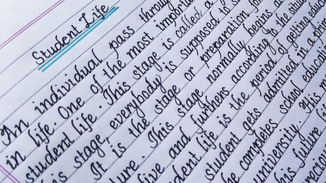 """Essay on""""Student Life"""" How to write an essay on student life  English  writing writing Eng Teach"""