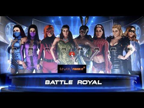 8 Woman SmackDown Halloween Battle Royal WWE2K18