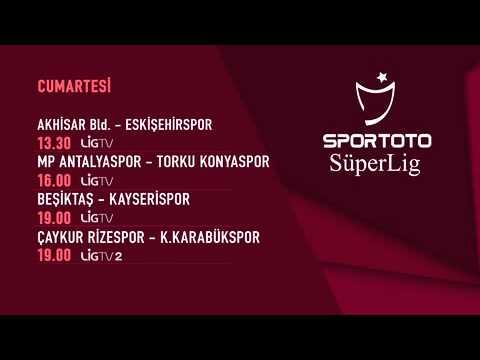 Spor Toto Süper Lig 28. hafta Programı