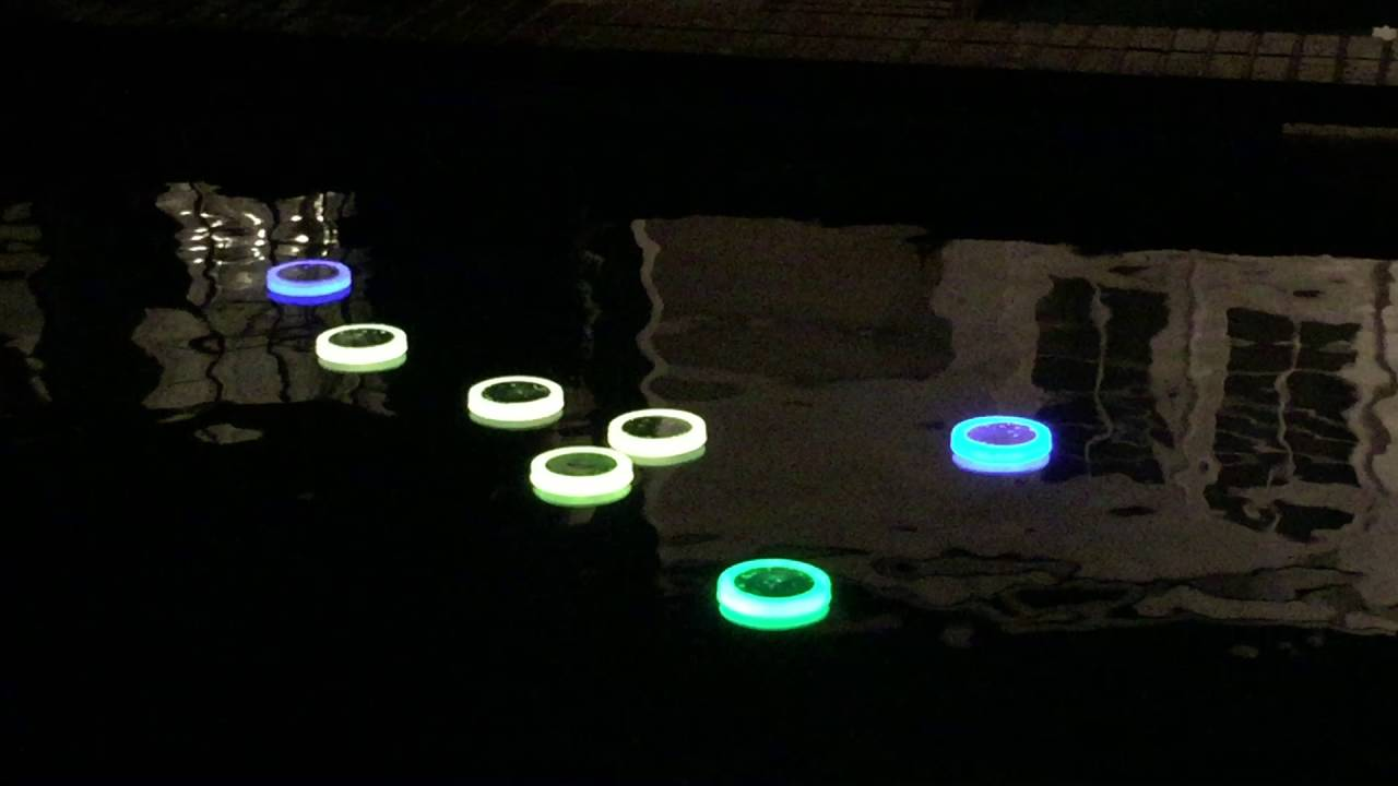 Solar Swimming Pool Led Light With Remote Control Youtube