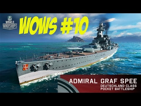 World of Warships # 10 Admiral Graf Spee  O Corsário Nazi