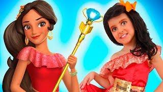 Little Princesses Choose Princess Dresses - Sisters Playing Dress up   Super Elsa